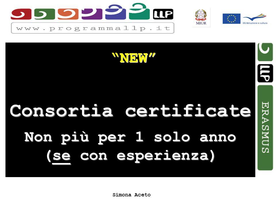 Simona Aceto NEW Consortia certificate Non più per 1 solo anno (se con esperienza)