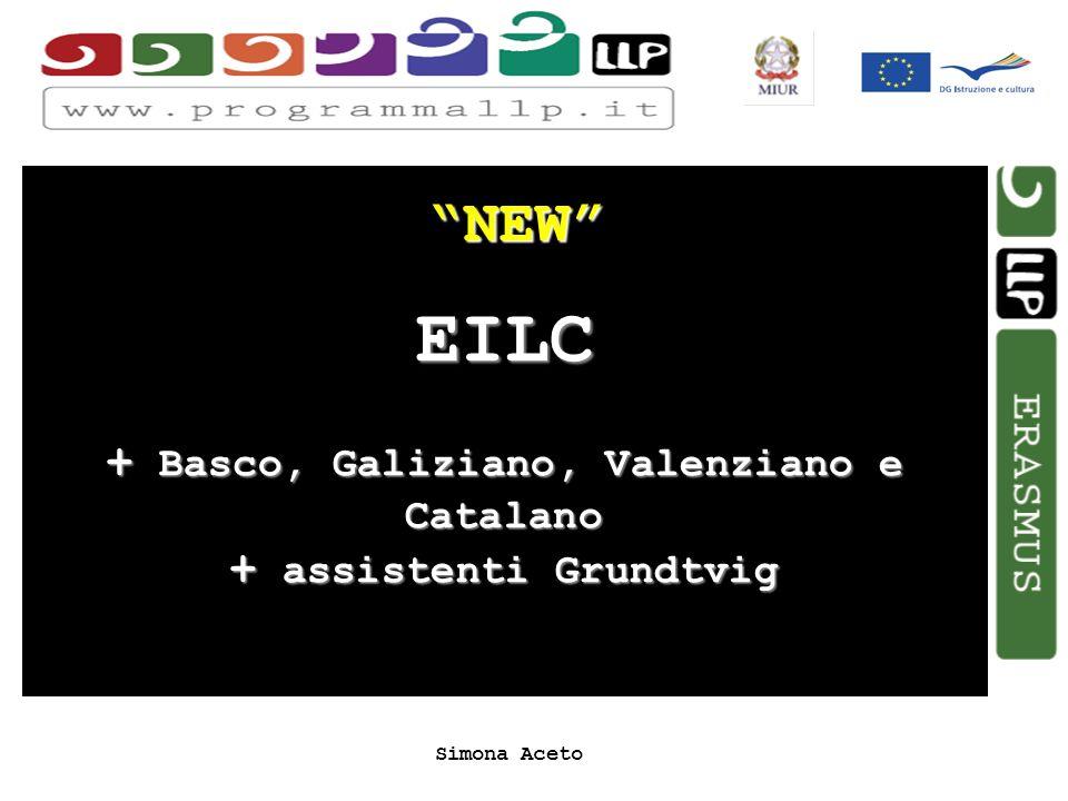 Simona Aceto NEW EILC + Basco, Galiziano, Valenziano e Catalano + assistenti Grundtvig