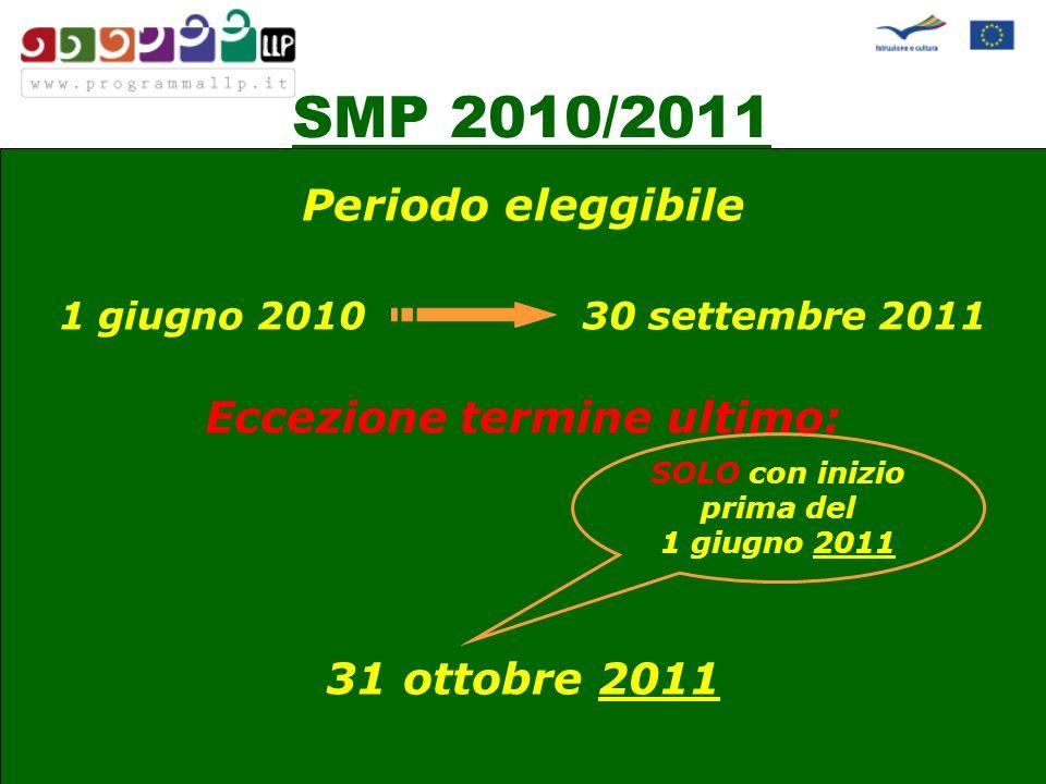 SMP 2010/2011 Sedi ospitanti NON eleggibili: …..