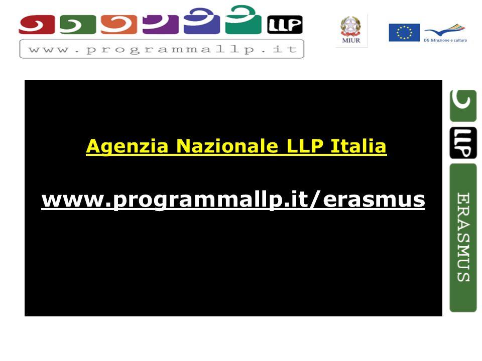 Agenzia Nazionale LLP Italia www.programmallp.it/erasmus
