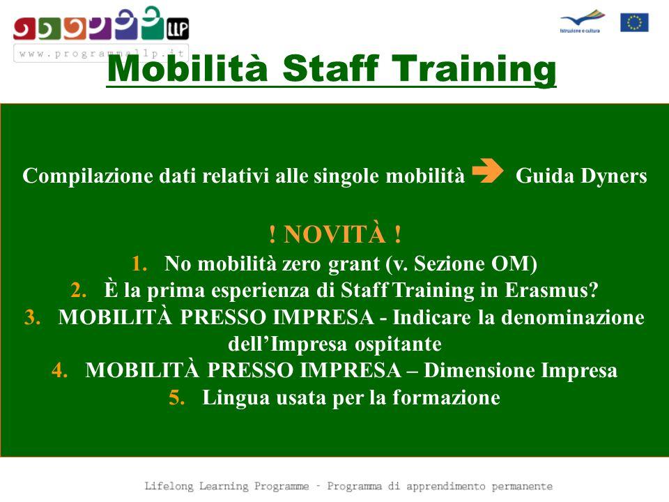 Mobilità SM/TS/STAFF .CONTROLLI .