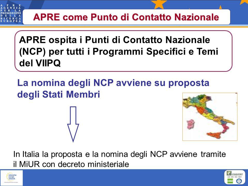 Informazione, promozione, help desk, ricerca partner, assistenza durante la preparazione, negoziazione e gestione del progetto http://cordis.europa.eu/fp7/get-support_en.html Punti di Contatto Nazionale (NCPs)