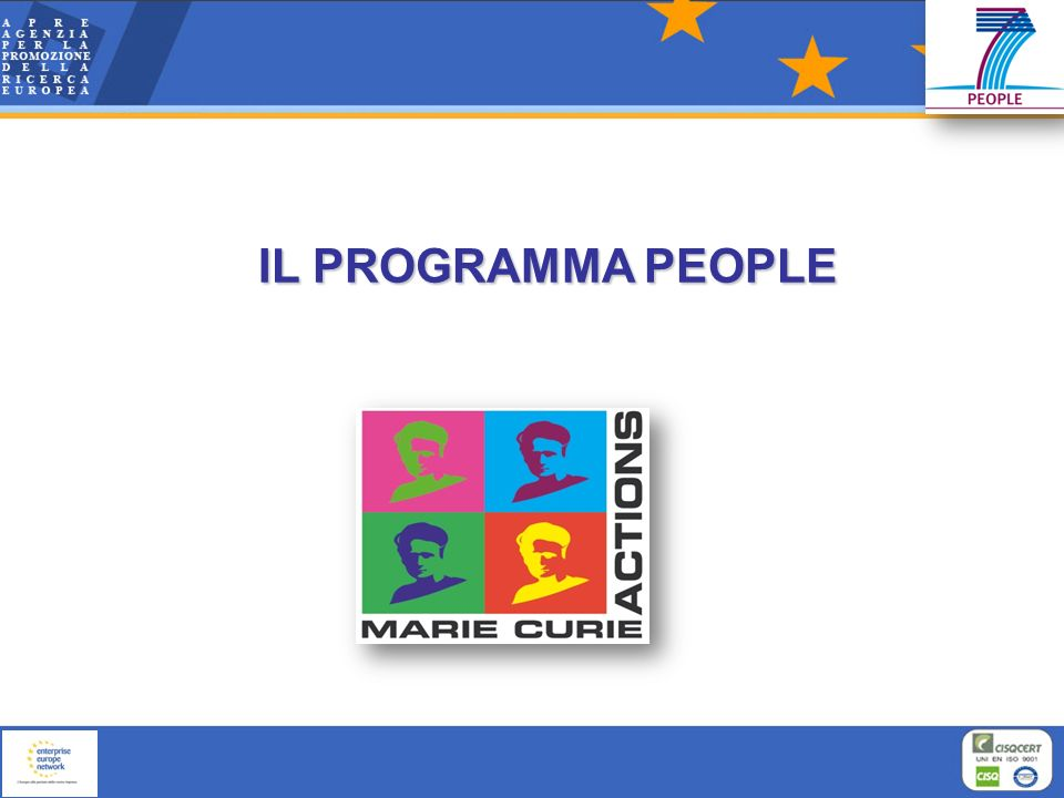 IL PROGRAMMA PEOPLE