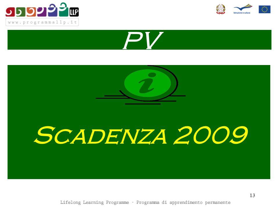 13 Scadenza 2009 PV