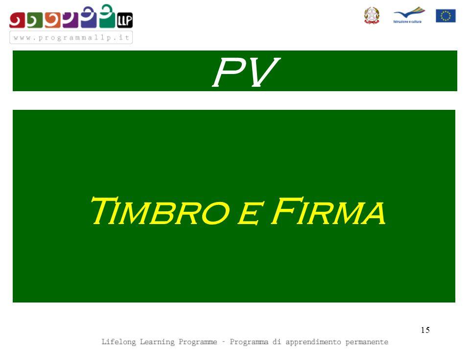 15 Timbro e Firma PV