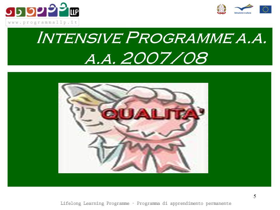 5 Intensive Programme a.a. a.a. 2007/08