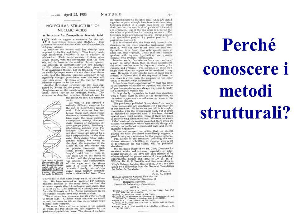 Perché conoscere i metodi strutturali?