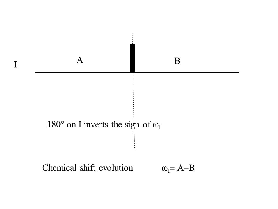 I Chemical shift evolution 180° on I inverts the sign of