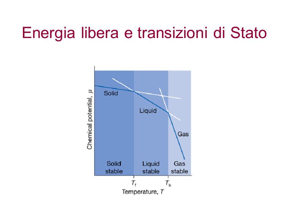 Energia libera e transizioni di Stato