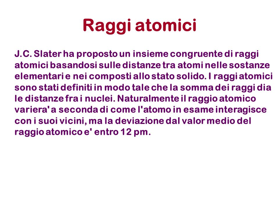 Raggi atomici J.C.
