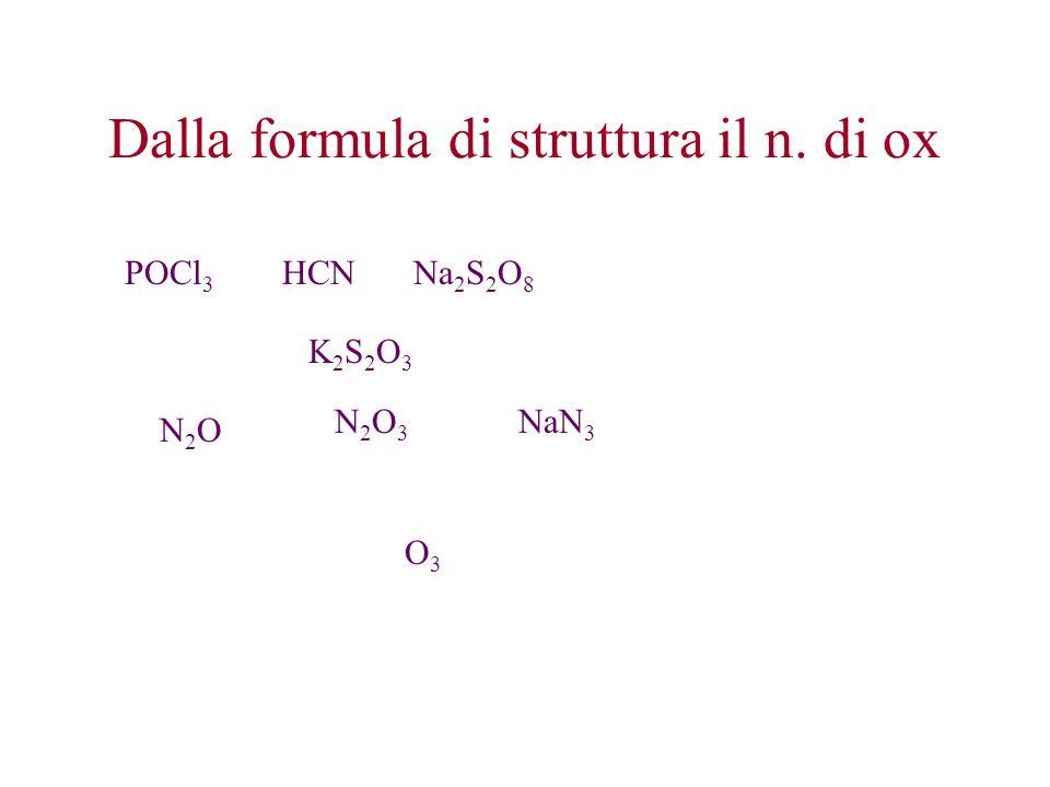 Dalla formula di struttura il n.