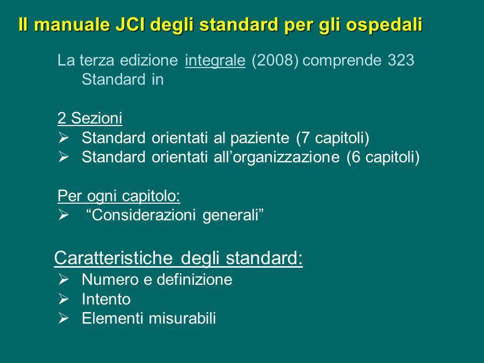 Accreditamento JCI e Progetto Regionale Lombardo