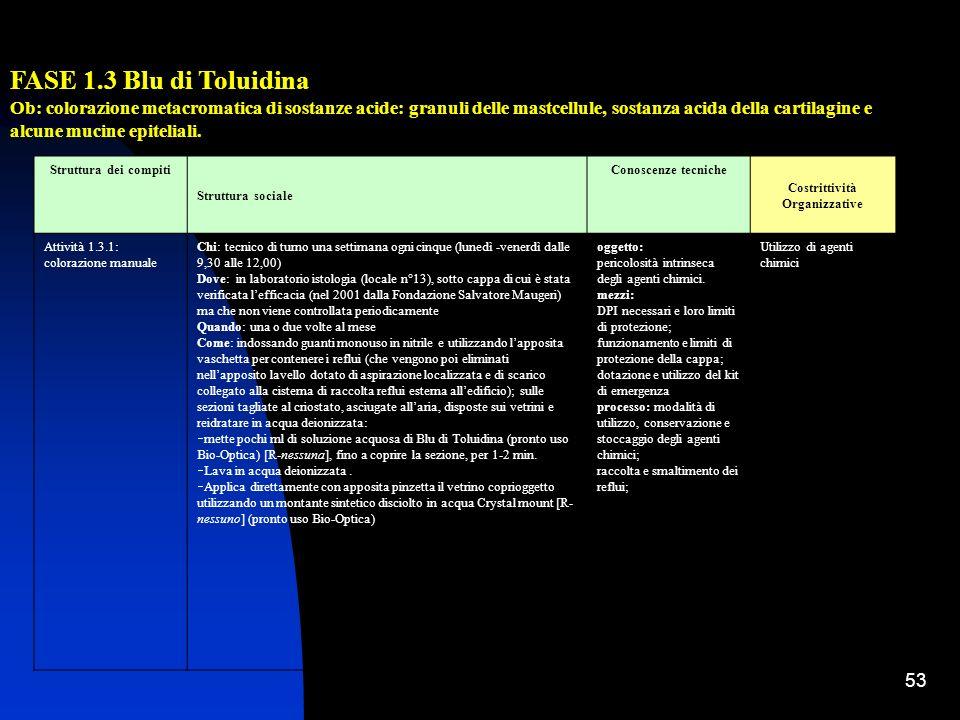 53 FASE 1.3 Blu di Toluidina Ob: colorazione metacromatica di sostanze acide: granuli delle mastcellule, sostanza acida della cartilagine e alcune muc