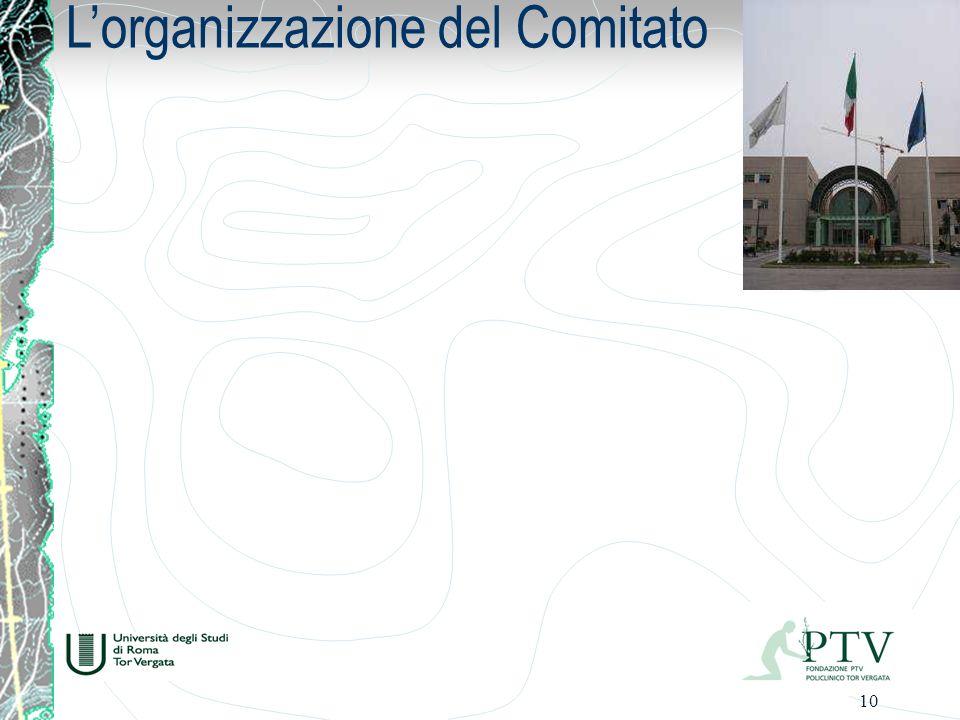 10 Lorganizzazione del Comitato