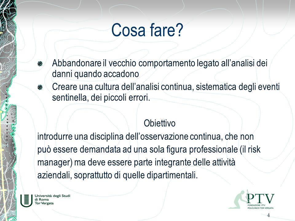 25 5 AI FINI DELLA QUANTIFICAZIONE DEL PREMIO, devono essere individuate ipotesi alternative rispetto allincremento del premio, quali: a.
