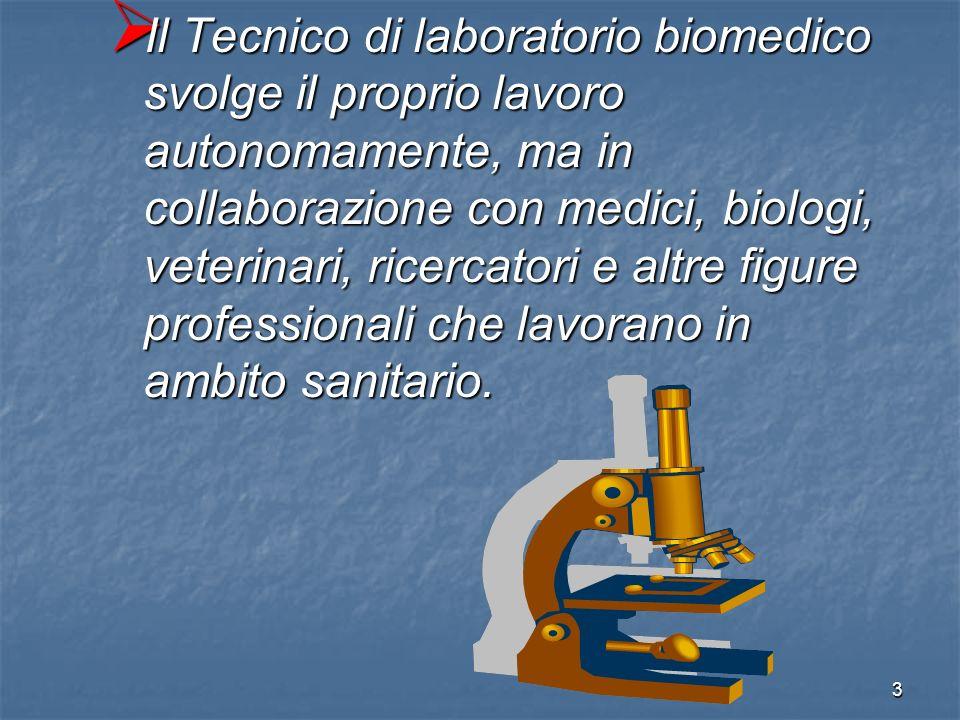 Opera in laboratori pubblici e privati, nei servizi ospedalieri, in presidi sanitari, istituti universitari, cliniche veterinarie, presso enti che si occupano di prevenzione ambientale e di ricerca.
