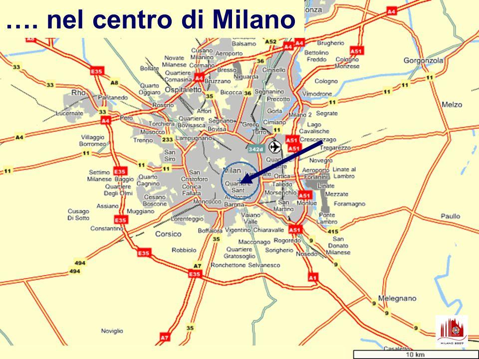 ….. vicino a piazza Duomo …. in via Festa del Perdono, …. alla Ca Granda