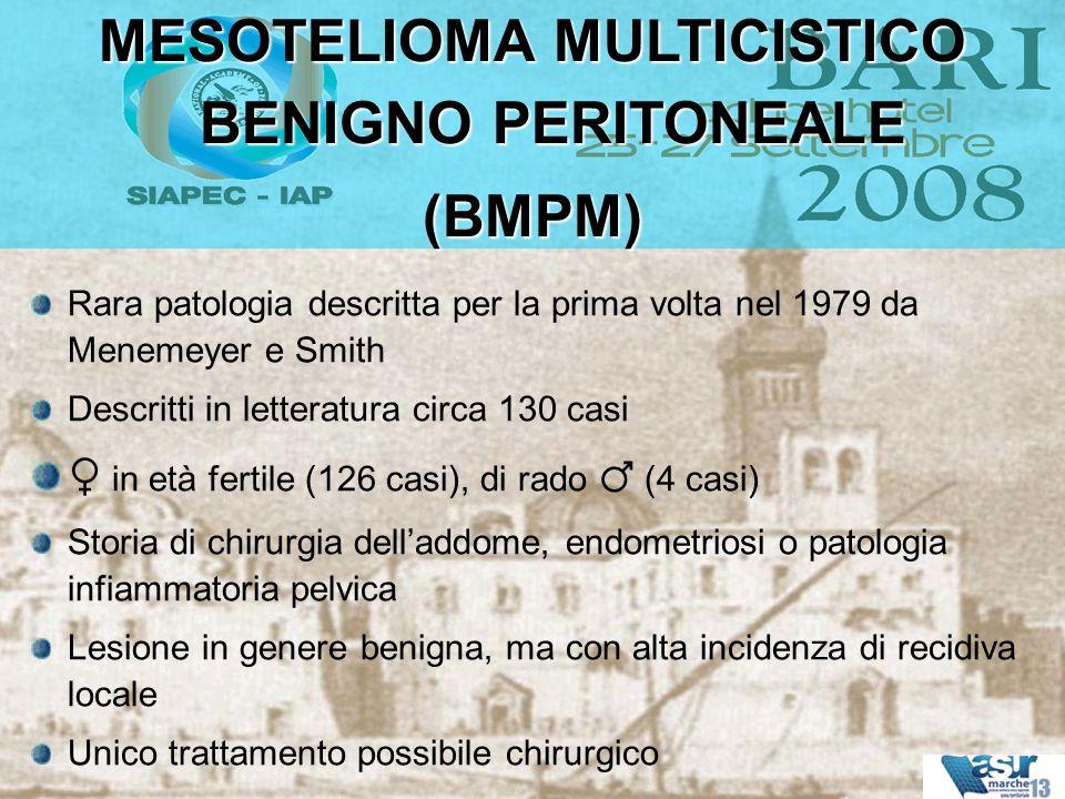 Rara patologia descritta per la prima volta nel 1979 da Menemeyer e Smith Descritti in letteratura circa 130 casi in età fertile (126 casi), di rado (