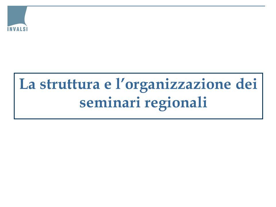 La struttura e lorganizzazione dei seminari regionali