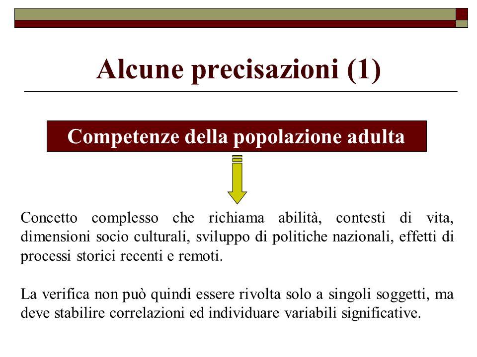 Problema 1: necessità di progettare corsi per adulti che provengono da esperienze diverse (es.