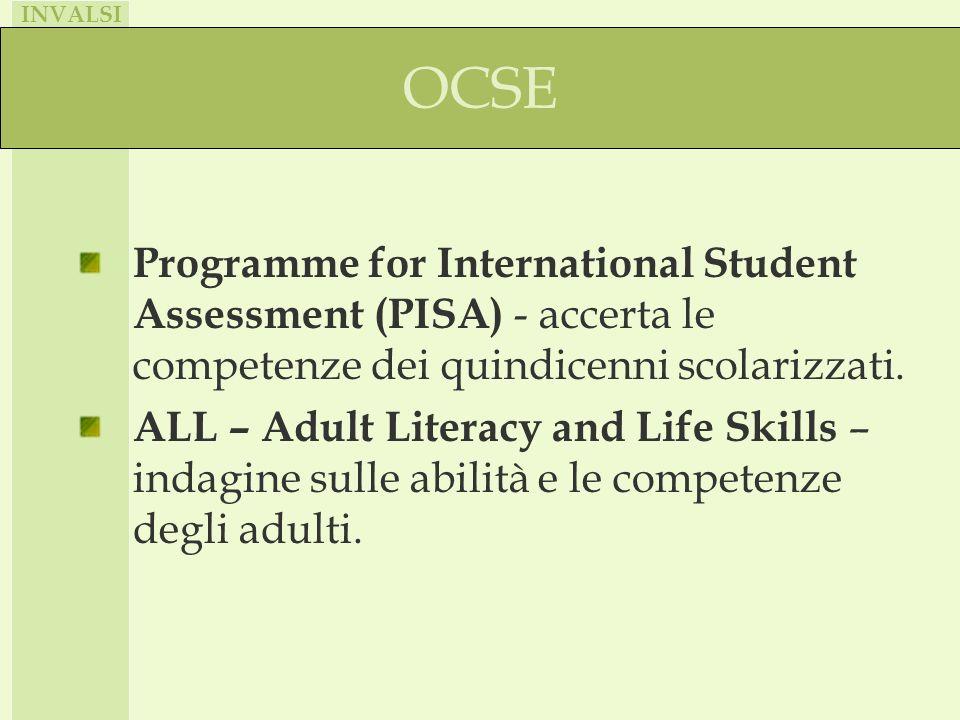 Collaborazione con la IEA (International Association for the Evaluation of Educational Achievement)