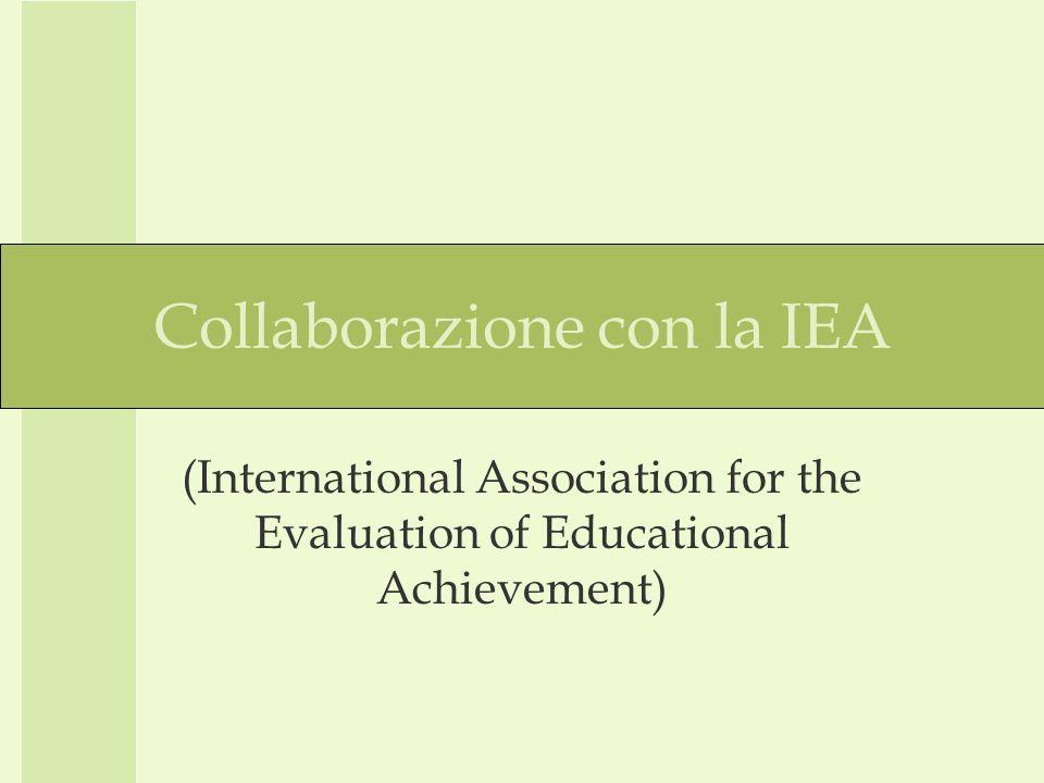 INVALSI IEA IEA PIRLS ICONA 2006 – indagine sulla comprensione della lettura.