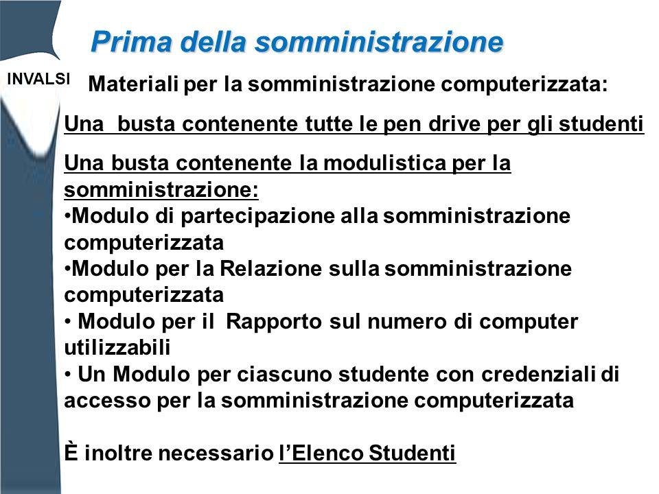 INVALSI Elenco Studenti Somministrazione computerizzata.