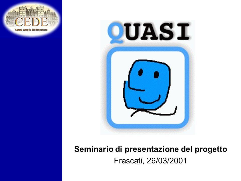 Seminario di presentazione del progetto Frascati, 26/03/2001