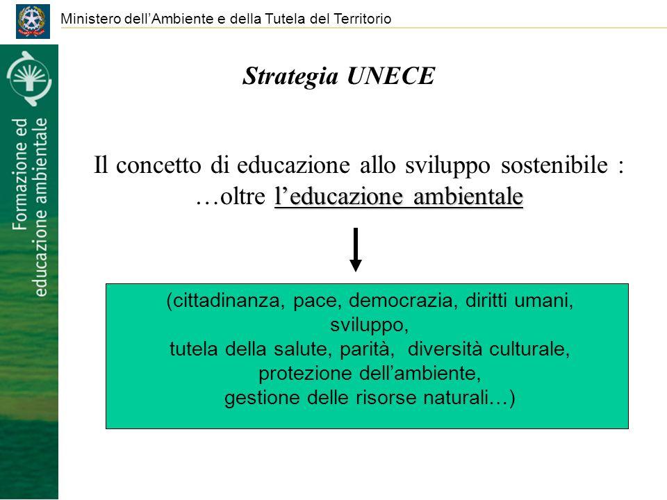 Ministero dellAmbiente e della Tutela del Territorio Strategia UNECE Il concetto di educazione allo sviluppo sostenibile : leducazione ambientale …olt