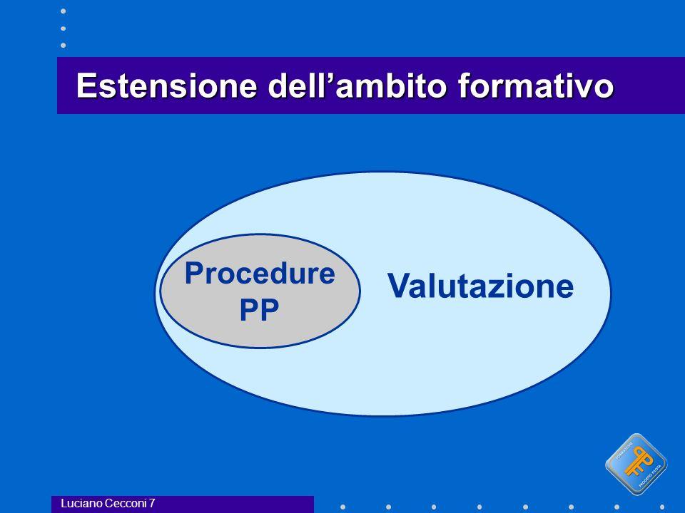 Estensione dellambito formativo Procedure PP Valutazione Luciano Cecconi 7