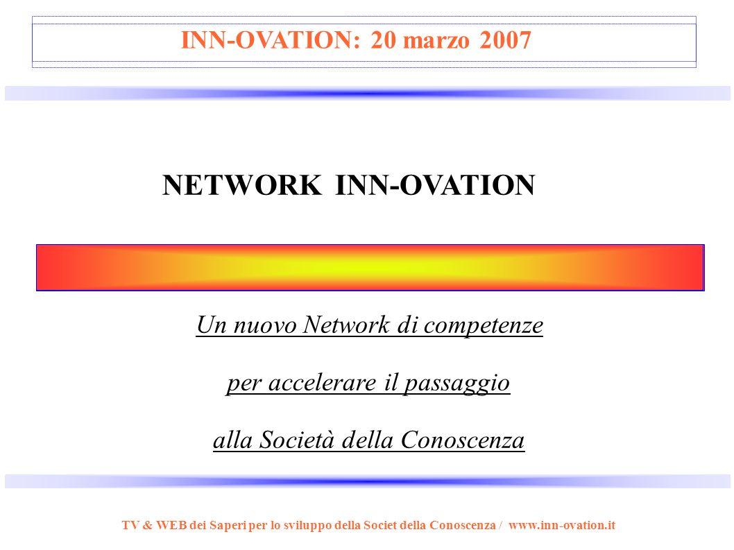 I Brands dell' Imprenditore della Conoscenza TV & WEB dei Saperi per lo sviluppo della Societ della Conoscenza / www.inn-ovation.it LIGHTHOUSE (of min