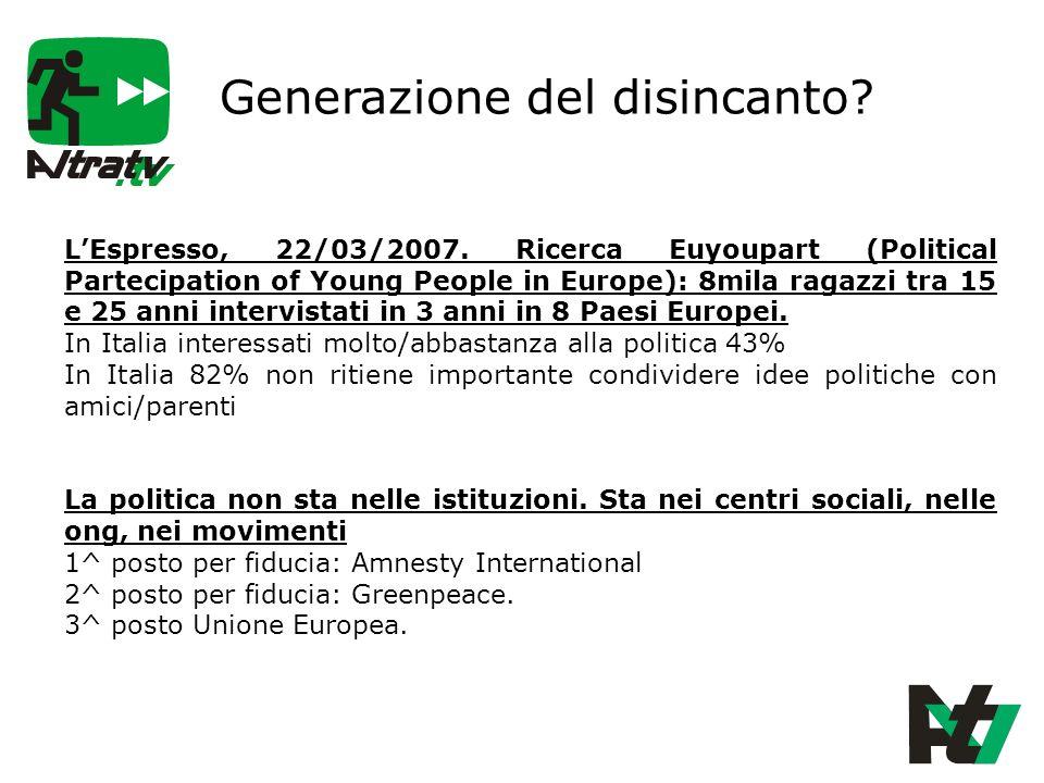 Generazione del disincanto. LEspresso, 22/03/2007.