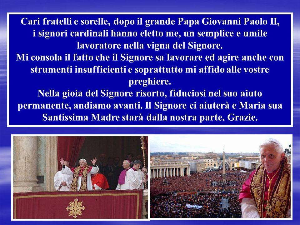 il 19 aprile 2005, accetta: si chiamerà Benedetto XVI.