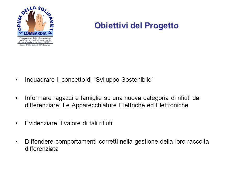 Target Scuole Medie Inferiori della Lombardia attraverso un percorso di formazione dei docenti scolastici, che diventano la cerniera di trasmissione del messaggio agli alunni, anche attraverso il supporto di mezzi audiovisivi N.B.