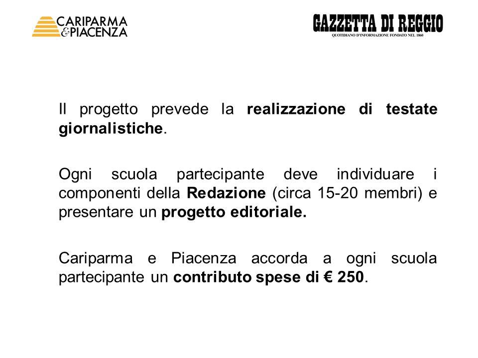 Il progetto prevede la realizzazione di testate giornalistiche.