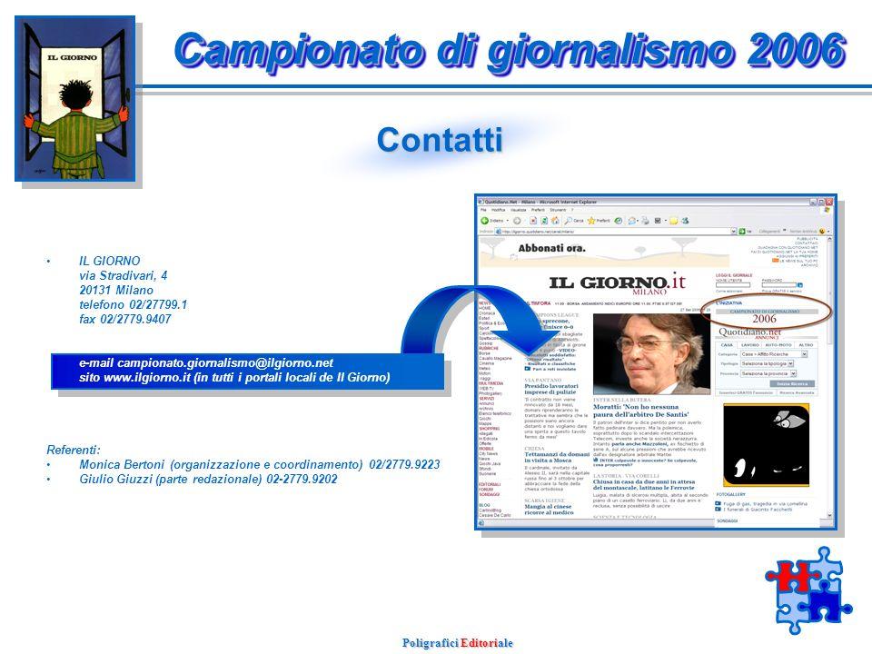 Poligrafici Editoriale Scheda di partecipazione Campionato di giornalismo 2006