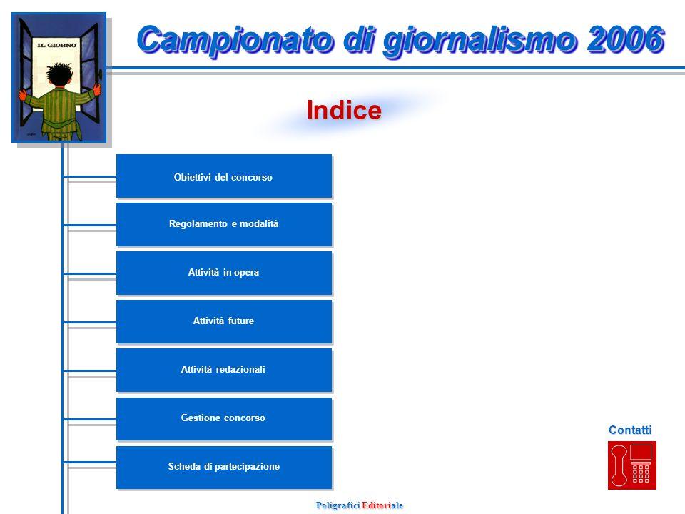 Campionato di giornalismo 2006 Poligrafici Editoriale presentazione