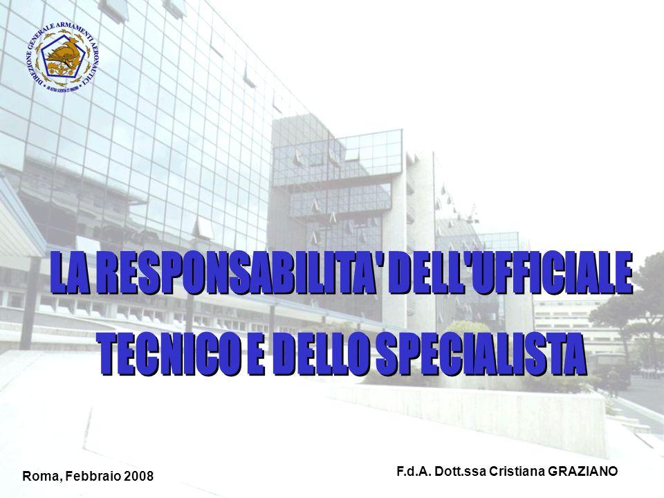 Roma, Febbraio 2008 F.d.A. Dott.ssa Cristiana GRAZIANO