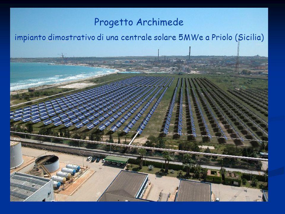 Progetto Archimede impianto dimostrativo di una centrale solare 5MWe a Priolo (Sicilia)