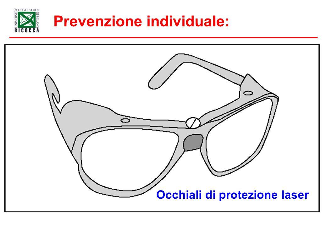 Prevenzione individuale: Occhiali di protezione laser