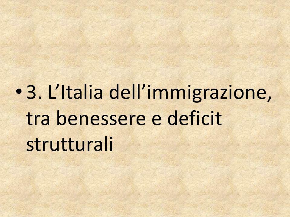 3. LItalia dellimmigrazione, tra benessere e deficit strutturali