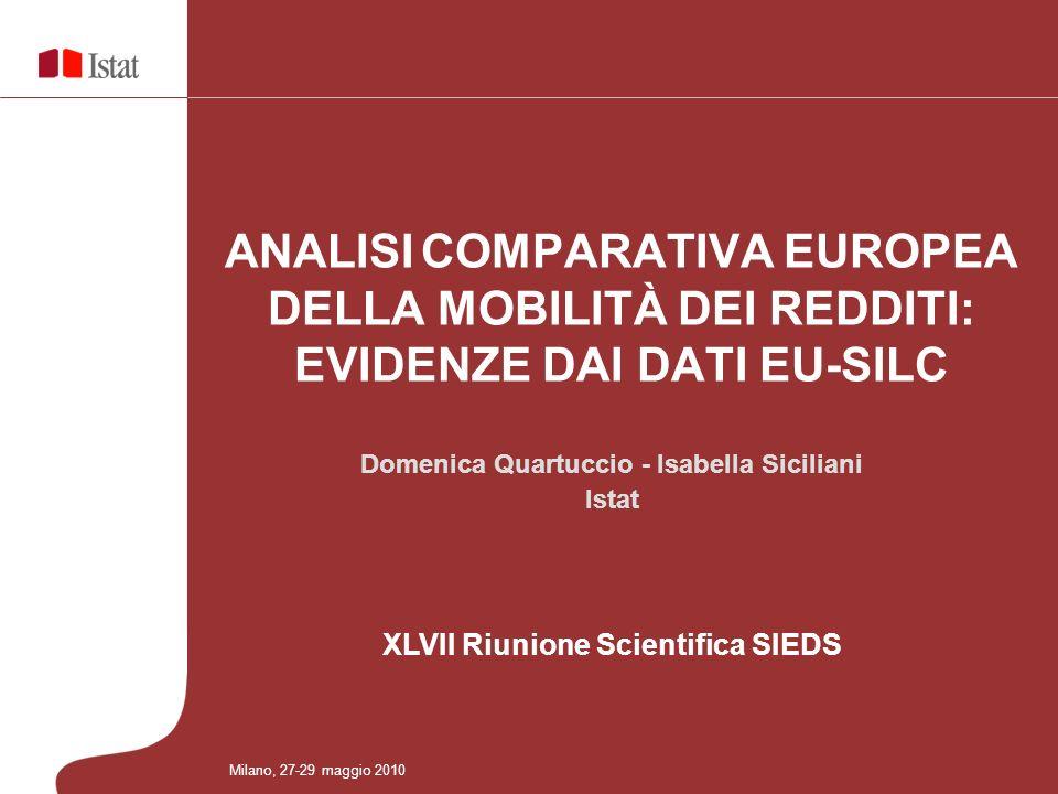 12 XLVII Riunione Scientifica SIEDS Milano, 27-29 maggio 2010