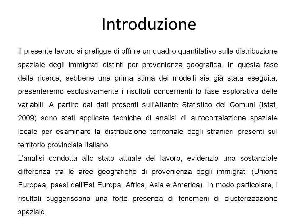 Alcune metodologie utilizzate per il fenomeno migratorio Il meccanismo delle catene di richiamo (REYNERI, 1979); Analisi dei flussi (Tobler, 1987); Quadrat analysis (elaborata per analizzare il particolare fenomeno della collocazione e disposizione di un insieme di punti su una superficie) (Altavilla- Mazza, 2008).