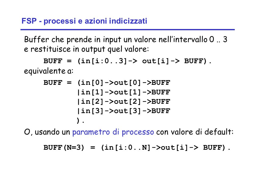 Concurrency: introduction24 ©Magee/Kramer Buffer che prende in input un valore nellintervallo 0..