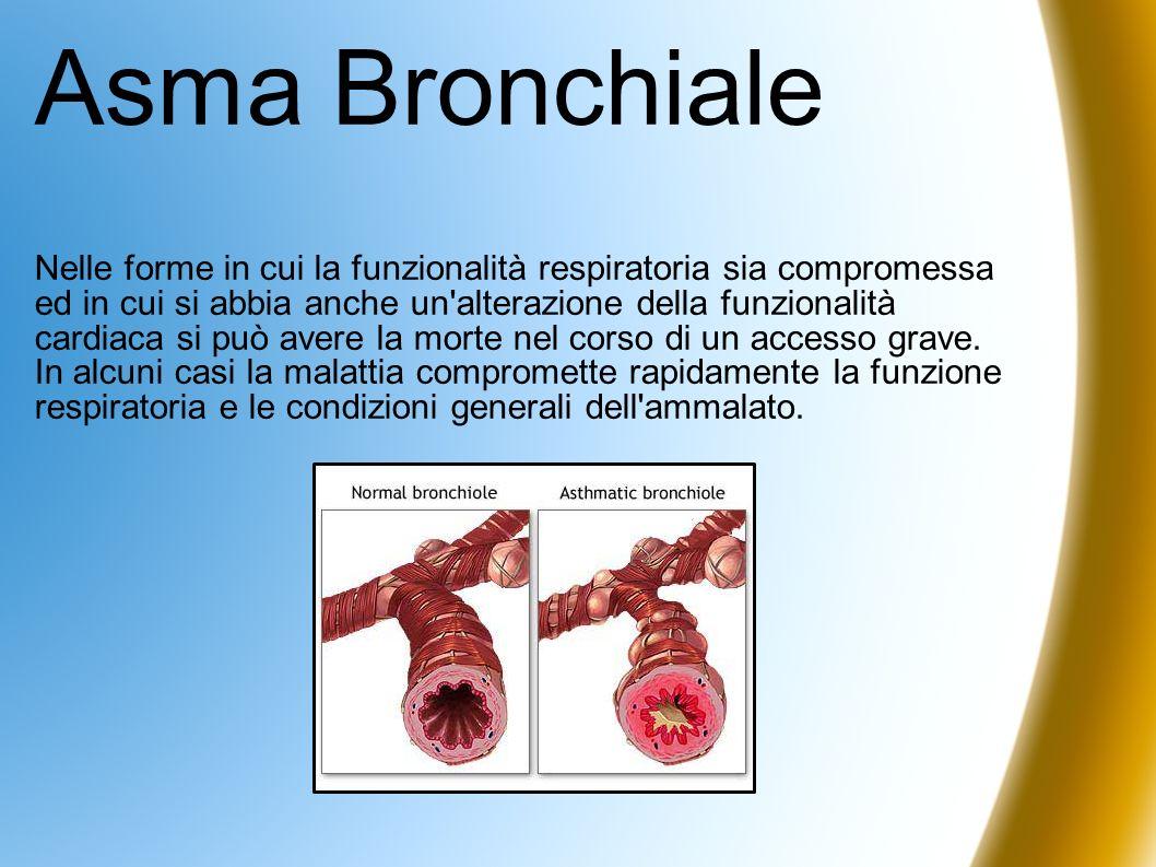Asma Bronchiale Nelle forme in cui la funzionalità respiratoria sia compromessa ed in cui si abbia anche un'alterazione della funzionalità cardiaca si