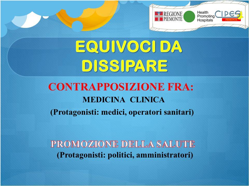CONTRAPPOSIZIONE FRA: MEDICINA CLINICA (Protagonisti: medici, operatori sanitari)