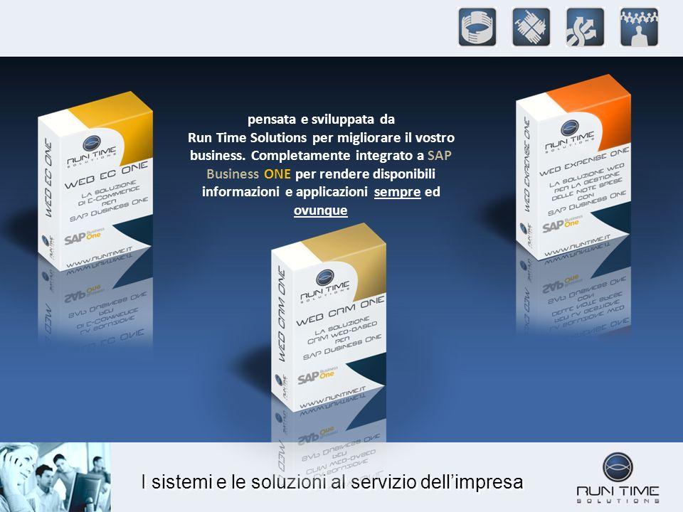 I sistemi e le soluzioni al servizio dellimpresa Web CRM One ottiene la certificazione di SAP AG per lintegrazione con SAP Business One riconosciuta a livello mondiale