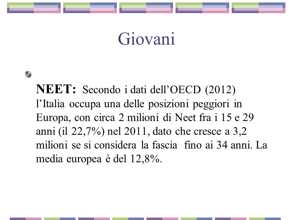 Overducation Overeducation: in Italia i giovani laureati sono proporzionalmente meno che in altri paesi europei ma, pur pochi, non trovano unoccupazione rispondente alla loro qualifica.