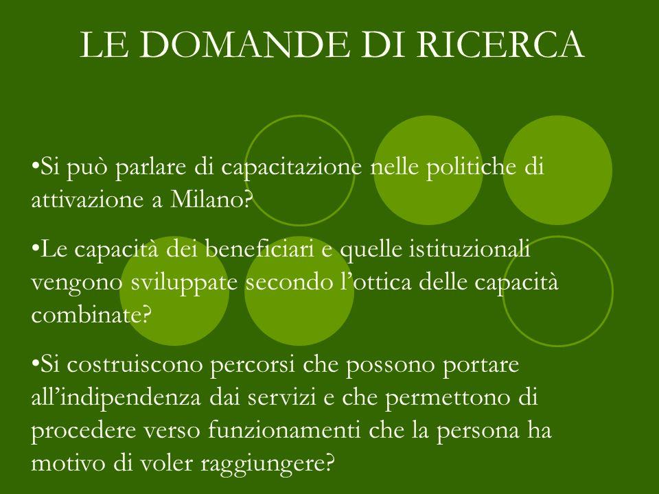 Si può parlare di capacitazione nelle politiche di attivazione a Milano? Le capacità dei beneficiari e quelle istituzionali vengono sviluppate secondo