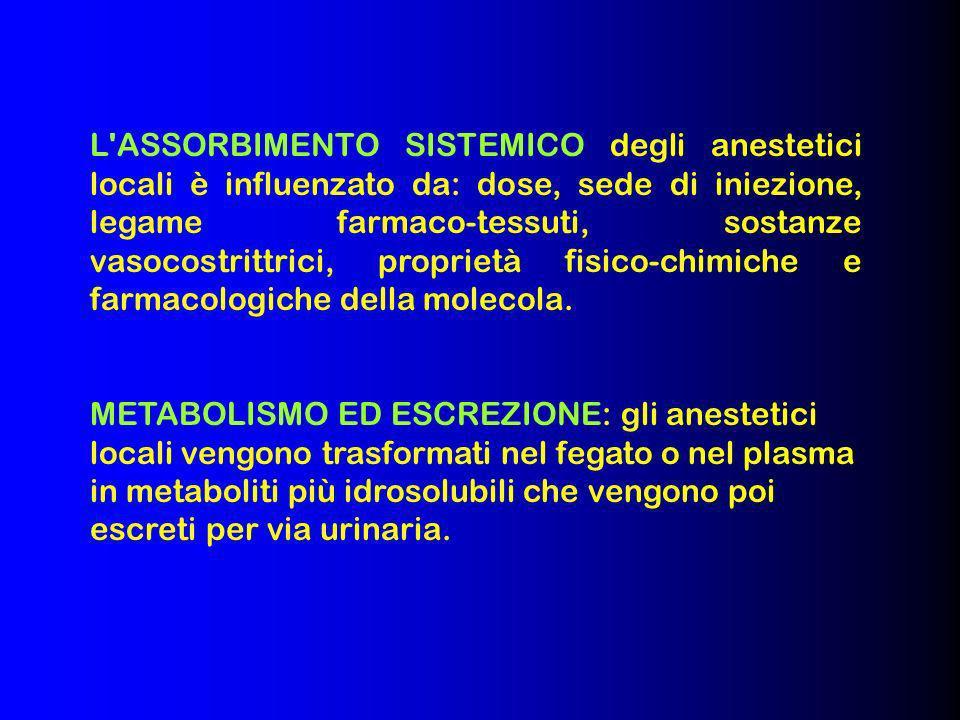 24 Gli anestetici locali sono farmaci molto sicuri perché agiscono solo sulle fibre sensitive Vero Falso Esercizi